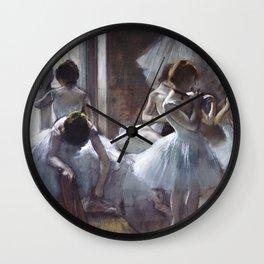 Dancers by Edgar Degas Wall Clock