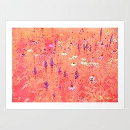 acoustic flower Art Print