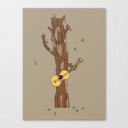 guitar playing tree-- illustration print Canvas Print