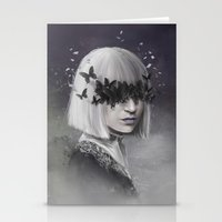 sia Stationery Cards featuring 100 Forms of Fear / Sia by Nicolas Jamonneau