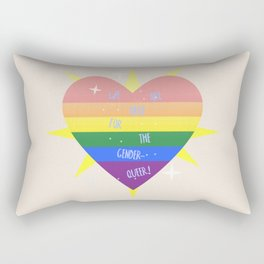 WE 'RE (WITH) THE QUEER! Rectangular Pillow
