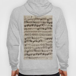 Johann Sebastian Bach (1685 – 1750) original music sheet Hoody