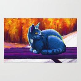 autumn blue Rug
