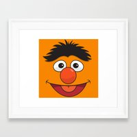 sesame street Framed Art Prints featuring Sesame Street Bert by Jconner