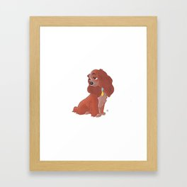 Lady - Lady And The Tramp Framed Art Print