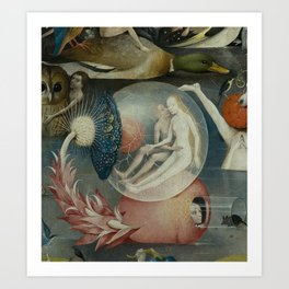 Lovers in a bubble - Hieronymus Bosch Art Print