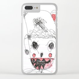 SAMMY MONSTER Clear iPhone Case