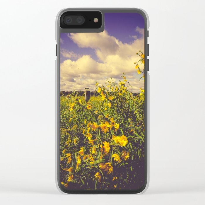 Field of Happiness Clear iPhone Case