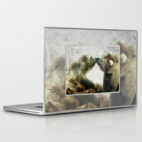 bears Laptop & iPad Skins featuring Bears by Julie Hoddinott