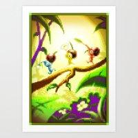 Pixel Art series 14 : Nature Art Print