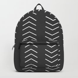Mudcloth Black white arrows Backpack