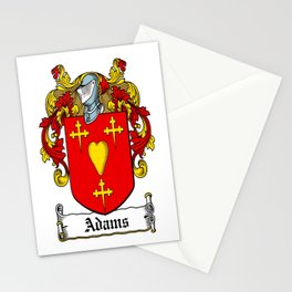 Family Crest - Adams - Coat of Arms Stationery Cards