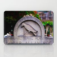 edgar allen poe iPad Cases featuring Original Burial Place of Edgar Allen Poe by Ann Yoo