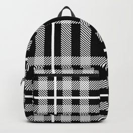 Black and White Plaid Backpack