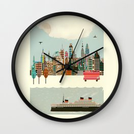 visit london city Wall Clock