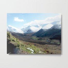 Scottish Spring Valley Metal Print