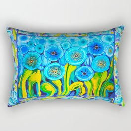Field of Poppies with Border All Around Belize Rectangular Pillow