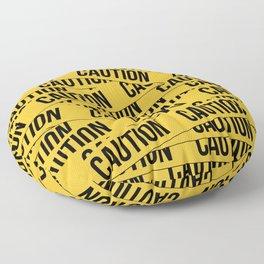 Caution Floor Pillow
