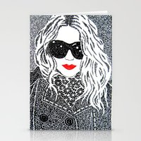 chic Stationery Cards featuring CHIC by The Curly Whirl Girly.