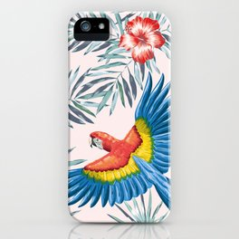 Macaw parrots in the jungle iPhone Case