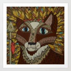 Dual Spirited Fox Art Print