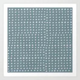 Slate x Dots Art Print