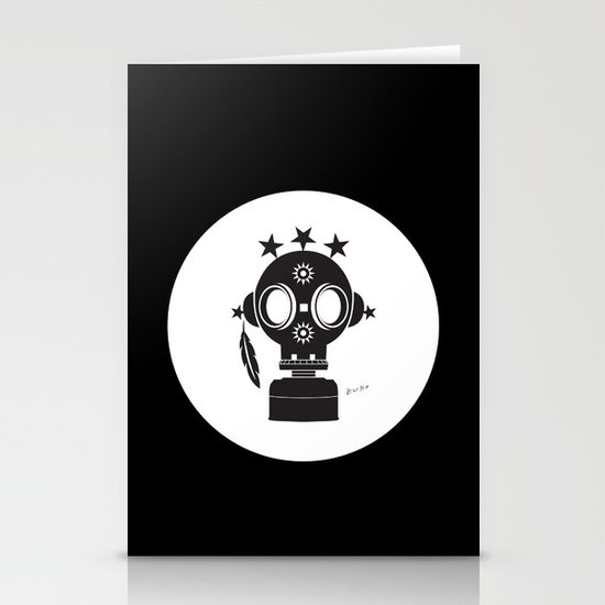Post World Zuno : Gas Mask 02 Stationery Cards