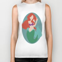 ariel Biker Tanks featuring Ariel by Polvo