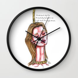 Death Wishes Wall Clock