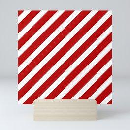 Candycane Large Stripe Mini Art Print