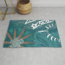 Hawaiian - Samoan - Polynesian Tribal Print Rug
