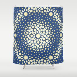 Arabesque Pattern - Golden Hour Shower Curtain