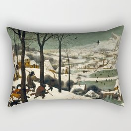 Hunters in the Snow (Winter) Rectangular Pillow