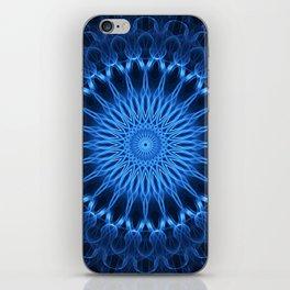 Pretty ocean blue mandala iPhone Skin