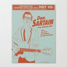Dan Sartain 2011 Gig Poster Canvas Print