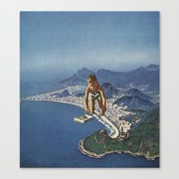 rio Canvas Prints featuring rio by Jesse Treece