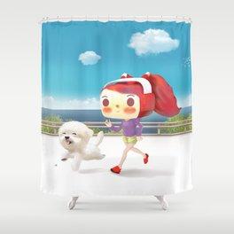 Road Running Shower Curtain