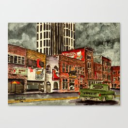 Nashville Tennessee Painting Canvas Print