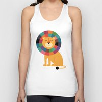 valentina Tank Tops featuring Mr. Confidence by Andy Westface