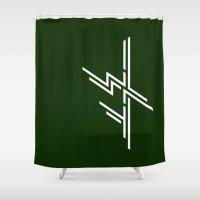 nietzsche Shower Curtains featuring 1 WAY by Temeshi