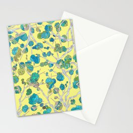 Cherry Blossom Yellow Stationery Cards