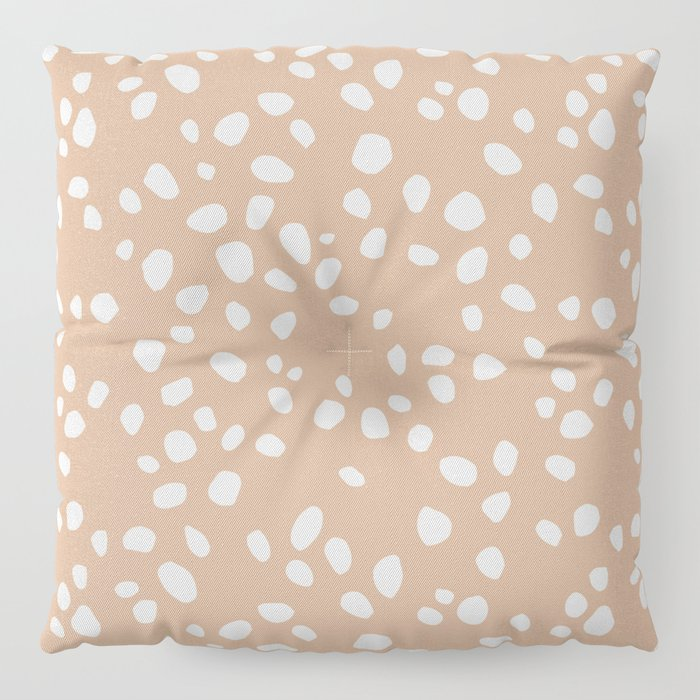 PEACH PEBBLES Floor Pillow