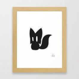 BlackFox Framed Art Print