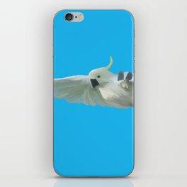 Cockatoo on Blue iPhone Skin