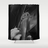 violin Shower Curtains featuring Violin by SwanniePhotoArt