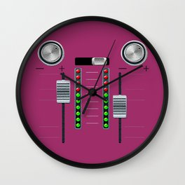 The sound system pink Wall Clock