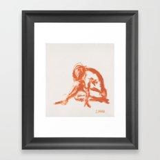 Figure in Oil Framed Art Print