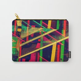 Industrial Abstract Green Carry-All Pouch