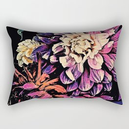 Autumn Dahlia Floral Bouquet Rectangular Pillow