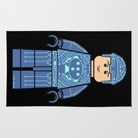 tron Area & Throw Rugs featuring Tron Lego by Ant Atomic